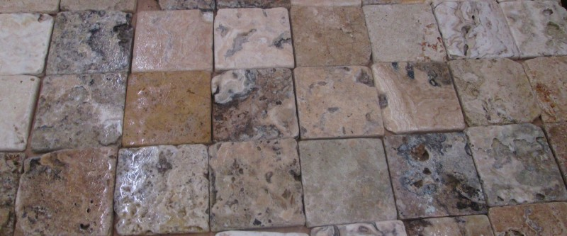 Travertine 4x4 Tumbled Antik Onyx