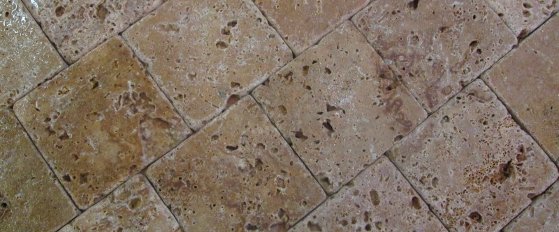 Travertine 4x4 Tumbled Noce
