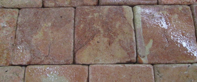 Travertine 4x4 Marbled Rose