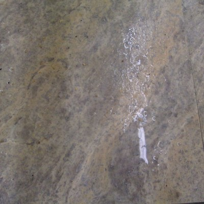 Travertine 12x12 Honed Filled Silver