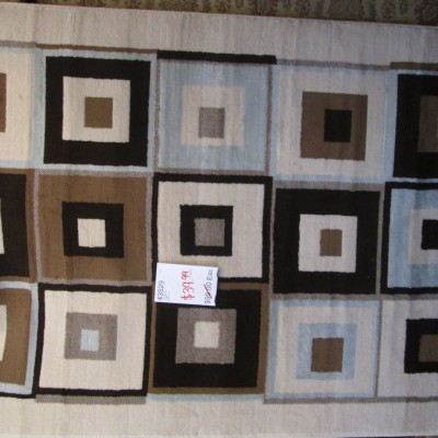 5 x 8 Area Rug/ Squares