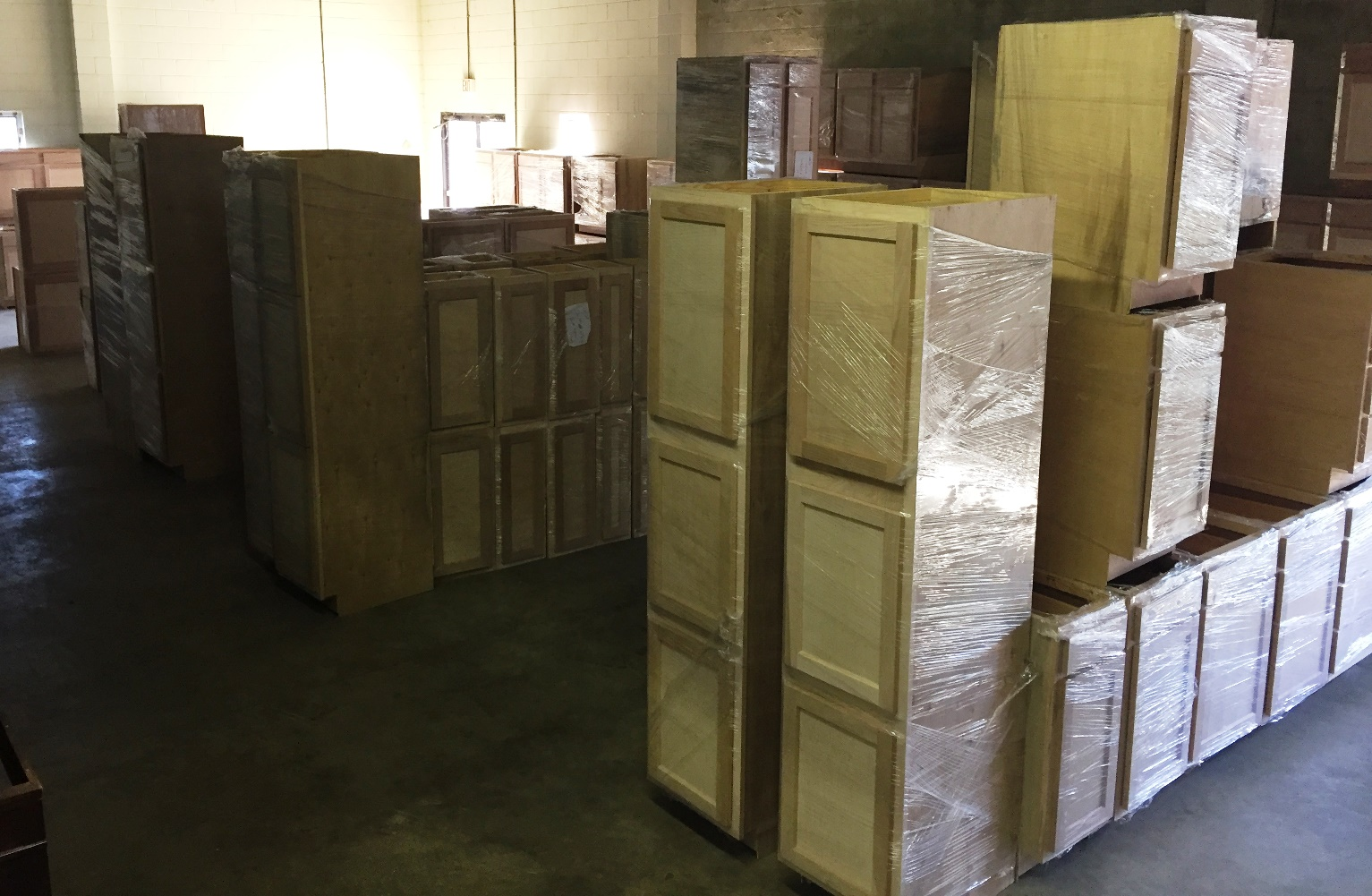 huge maple cabinet selection