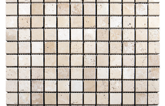 1x1 Ivory Travertine Tumbled