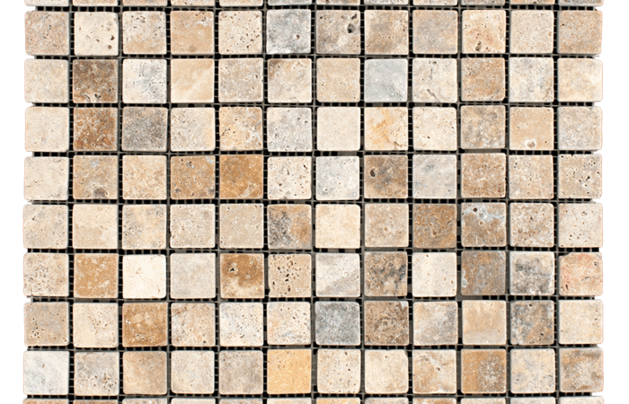 1x1 Scabos Travertine Tumbled