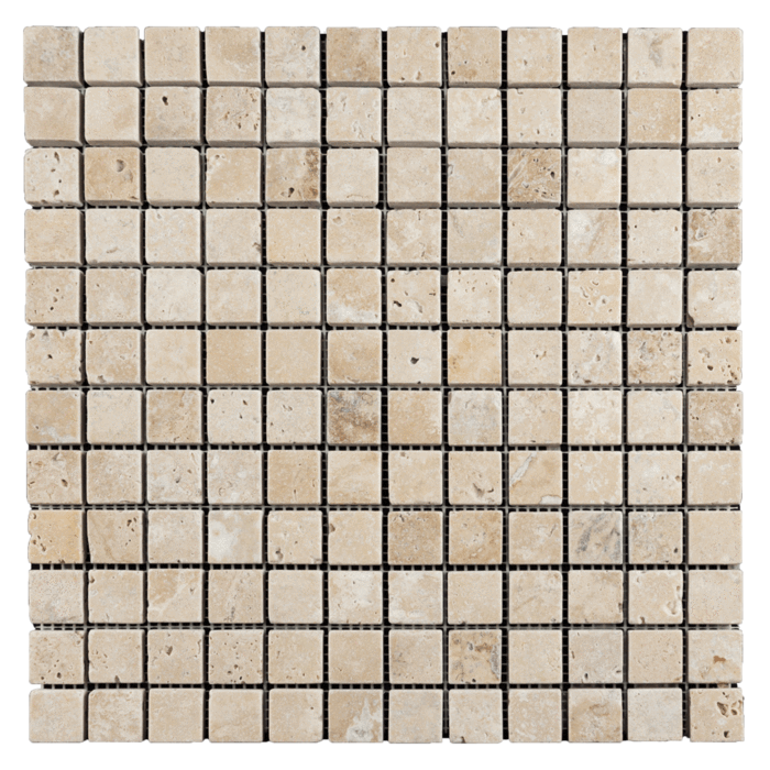 1x1 Walnut Travertine Tumbled