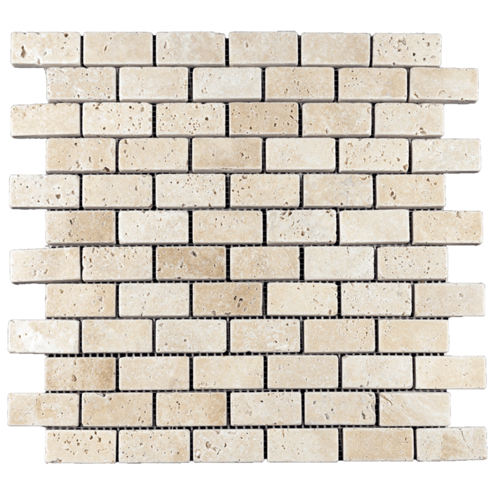 1x2 Ivory Travertine Tumbled