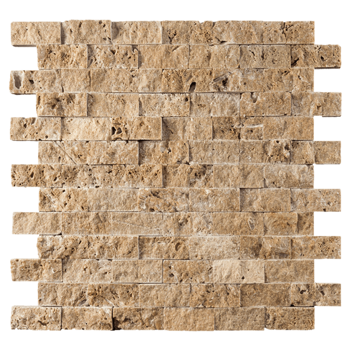 1x2 Noche Travertine Split Face