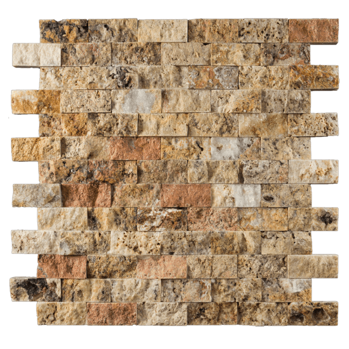 1x2 Scabos Travertine Split Face