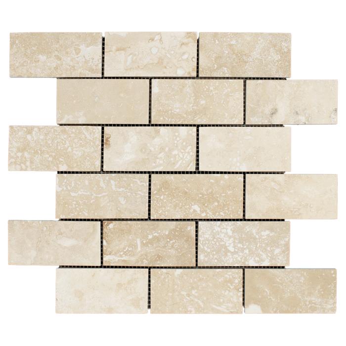 2x4 Ivory Travertine Honed