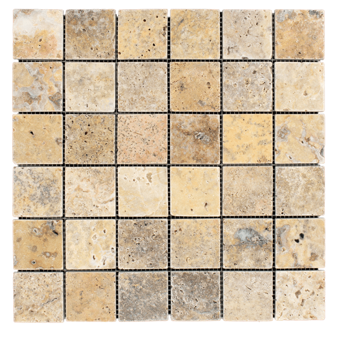 2x2 Scabos Travertine Tumbled
