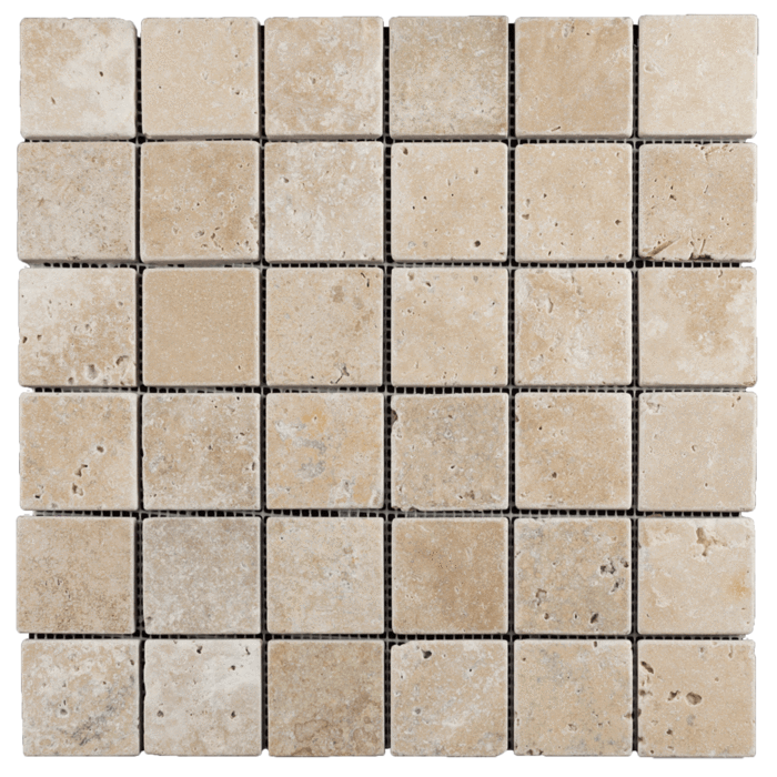 2x2 Walnut Travertine Tumbled