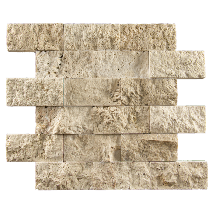 2x4 Ivory Travertine Split Face