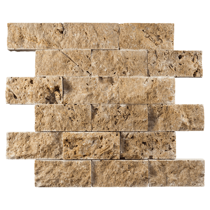 2x4 Noche Travertine Split Face