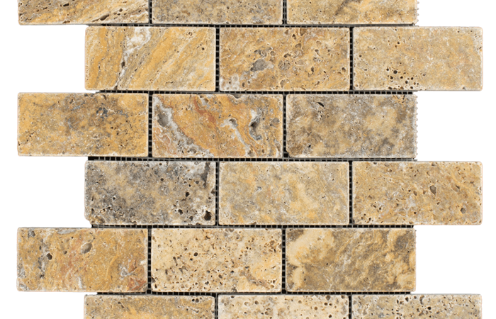 2x4 Scabos Travertine Tumbled
