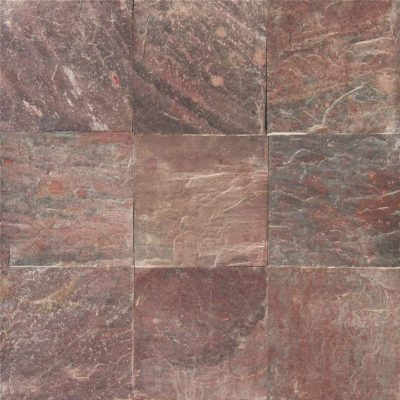 4x4 Copper Quartzite Slate Tumbled